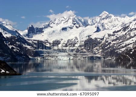 Scenic view of Glacier Bay in Alaska
