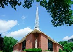 Scenic view of Historic Saint George Catholic Church Framingham MA USA