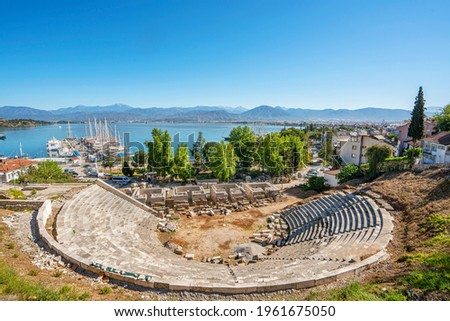 Scenic view of ,in the centre of Fethiye, just behind the harbour, is Telmessos' 6000-seat Roman theatre dating from the 2nd century BC. Stock fotó ©