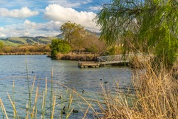 Scenic view of Lake Elizabeth in Central Park, Fremont