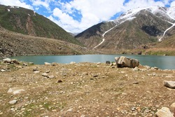 scenic view of lulusar lake - kaghan valley / pakistan