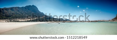 Scenic view of Mediterranean Sea with mountains