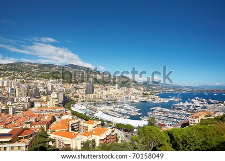 Scenic view of Monaco harbor.