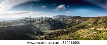 Scenic view of mountains against sky #1512218558