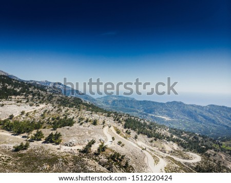 Scenic view of mountains against sky #1512220424