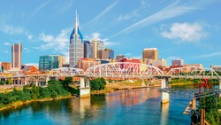 Scenic view of Nashville, the capital of Tennessee.