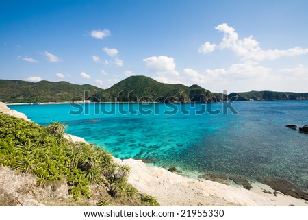 Scenic view of Okinawa islands, Japan