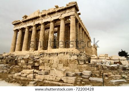 Scenic view of Parthenon Temple, Acropolis, Athens, Greece