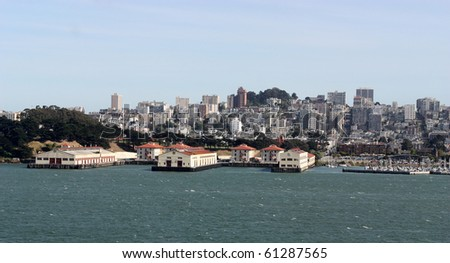 Scenic view of piers in San Francisco California