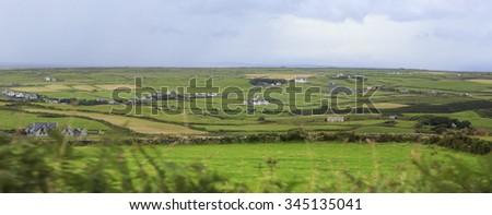 Scenic view of Rural farm houses among farmland. #345135041
