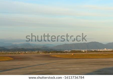 Scenic view of Shizuoka kuko