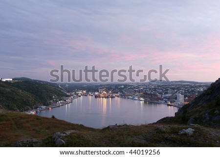 Scenic view of St. John's Harbor in Newfoundland, Canada.