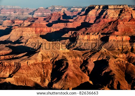 Scenic view of sunrise in Grand Canyon national park, Arizona, USA #82636663