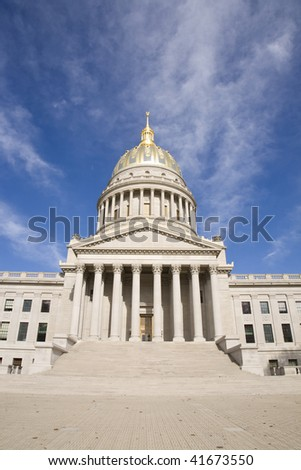 scenic view of the capital building in Charleston West Virginia