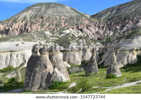 Scenic view of the landscape of mountain in Kapadokya, Turkey #1547723744