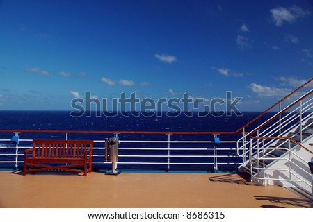 Deck Top Backgrounds Scenic view of top deck on
