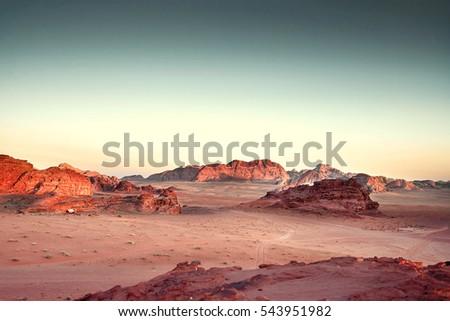 scenic view of wadi rum against ...