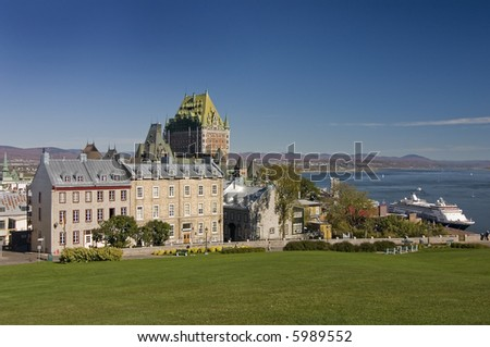 Scenic view on Château Frontenac, Quebec City, Quebec, Canada