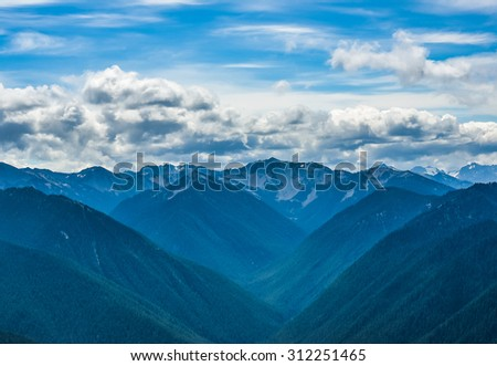scenic view on  Hurricane Ridge Olympic National Park Washington State,Wa,Usa