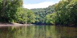 Scenic view on the Caney Fork River in Tennessee