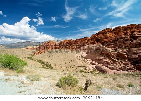 Scenic view, Red Rock Canyon State Park, Nevada, USA