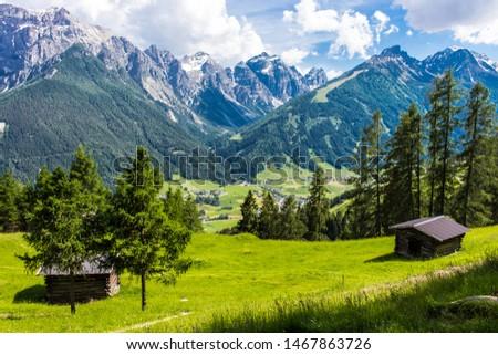 scenic view to Stubaital, Tirol, Austria