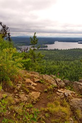 Scenic views from Teapot Mountain, near Prince George, British Columbia, Canada