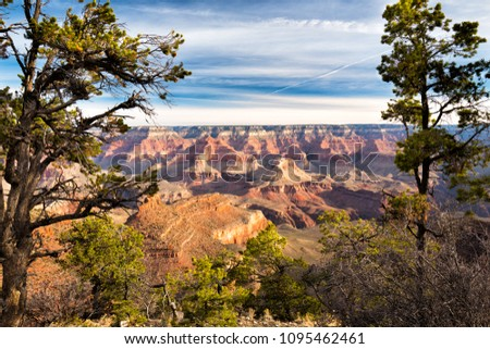 Scenic views from the South Rim of the Grand Canyon.  #1095462461