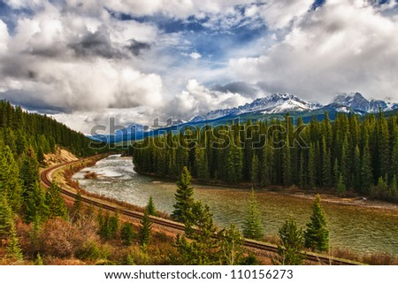 Scenic views of Banff National Park Alberta Canada