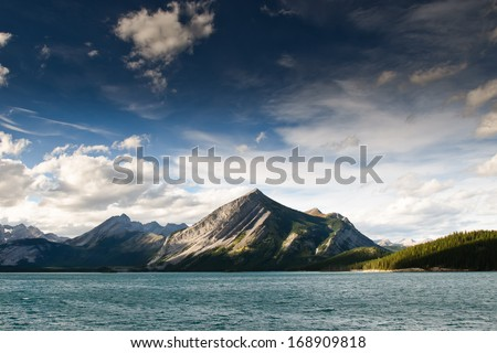 Scenic views of Kananaskis Lakes Alberta Canada
