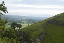 Scenic views of the Peak District at Cave Dale, Castleton