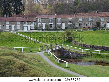 Scenic village of Hutton-Le-Hole in the North York Moors National Park, England