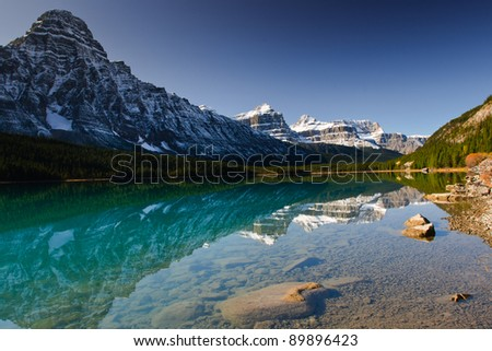 Scenic Waterfowl Lake in Banff National Park Alberta Canada