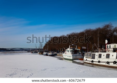 stockholm sweden in winter. stock photo : Scenic winter panorama of Stockholm, Sweden.