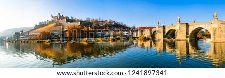 Scenic Wurzburg town - famous