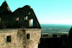 Schaunberg castle ruins in the municipality of Hartkirchen in Upper Austria