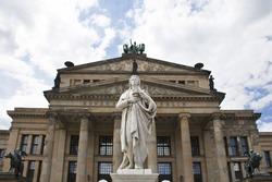 Schiller statue in front of Konzerthaus (Concert House) in Berlin