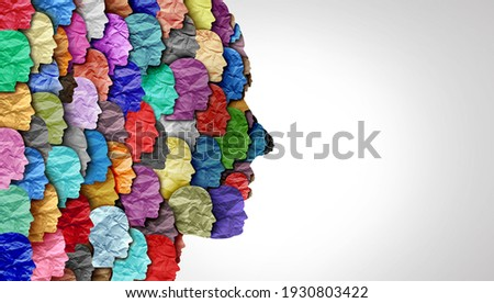 Schizophrenia disorder and psychiatric disease or mental health as a psychiatry and psychology concept for human abnormal personality behavior and mood illness in a 3D illustration style.