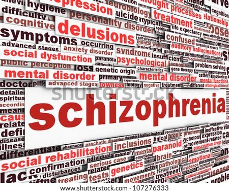 Schizophrenia message concept. Mental disorder concept
