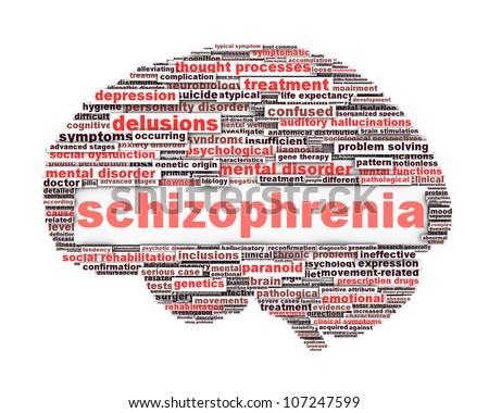 Schizophrenia symbol conceptual design. Mental disorder concept