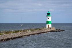 Schleimünde lighthouse at the mouth of the Schlei inlet in Schleswig-Holstein, Germany