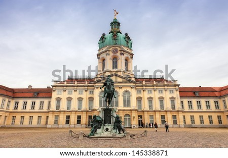 Schloss Charlottenburg(charlottenburg palace) in Berlin, Germany - stock photo