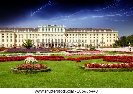 Schoenbrunn Castle and Garden in Summer, Vienna, Austria