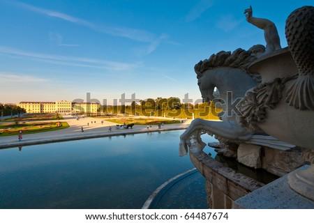 Schoenbrunn castle in Vienna