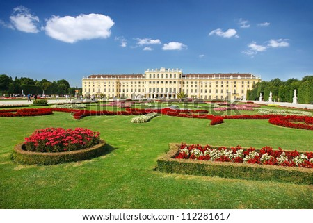 Schoenbrunn Palace in Vienna, Austria - stock photo