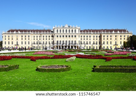 Schoenbrunn Palace in Vienna,UNESCO World Heritage Site