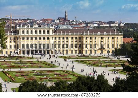 Schoenbrunn Palace vienna - stock photo