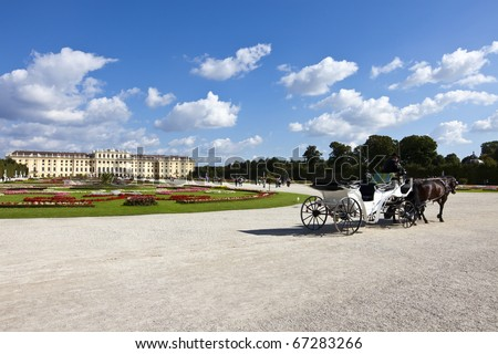 Schoenbrunn Palace Vienna - is a former imperial summer residence. The Baroque palace is one of the most important architectural, cultural and historical monuments in the country of Austria