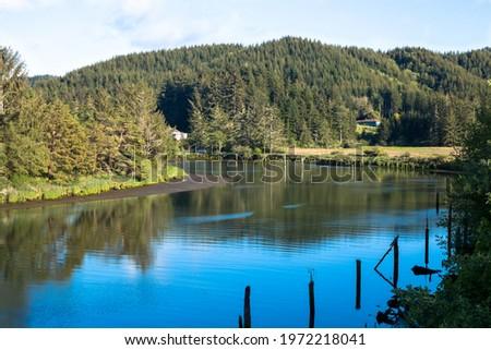 Schofield Creek on the Oregon Pacific coast in beautiful sunny day Stockfoto ©