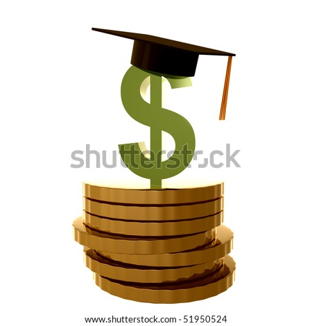 Scholarship fund icon symbol illustration